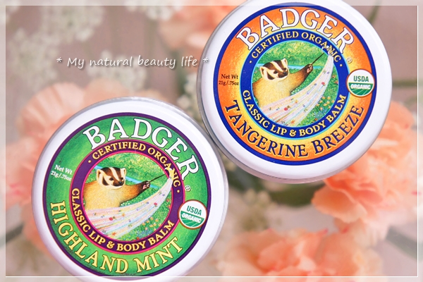 Badger Company, Classic Lip & Body Balm, Highland Mint, Tangerine Breeze