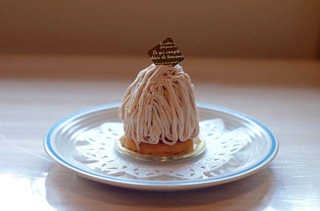 粉と卵と・・・魔法使いでモンブランケーキ