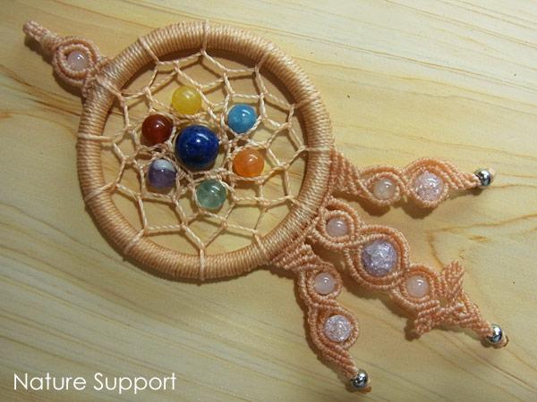 ドリームキャッチャー編み-マクラメ編み教室