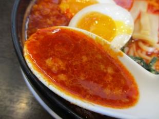 来来亭白根店 旨辛麺1辛 スープ
