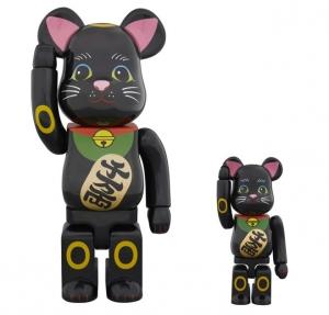 招き猫 黒 弐 ベアブリック