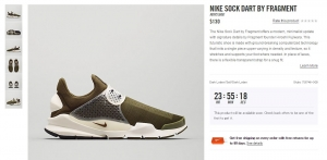 Nike Sock Dart by Fragment