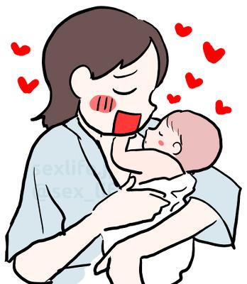赤ちゃんを産んだ女の子