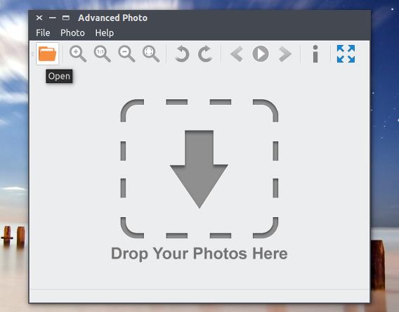 Advanced Photo Ubuntu 画像ビューア 画像を開く