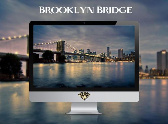 Brooklyn Bridge Ubuntu 壁紙