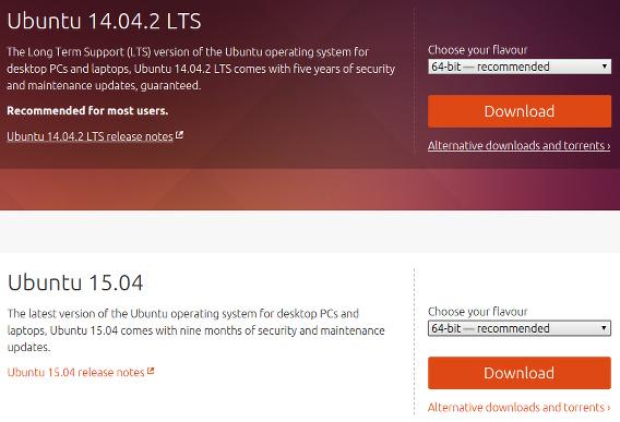 Ubuntu 15.04 ダウンロード