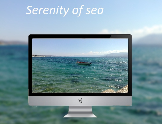 serenity of sea Ubuntu 壁紙