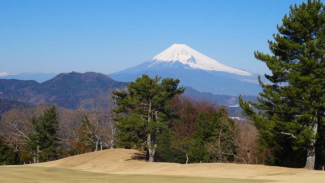 修善寺CCと絶景富士山 (2015年1月)